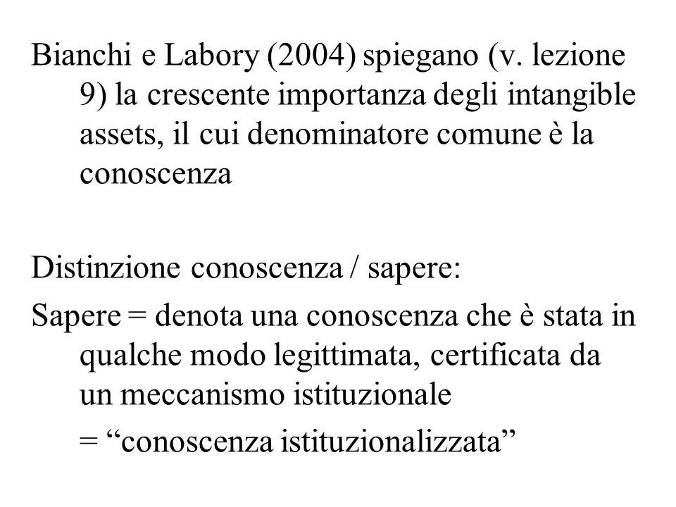 Bianchi e Labory (2004) spiegano (v.