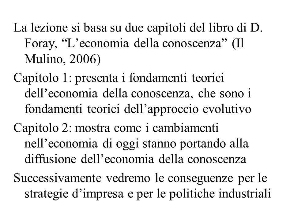 Conclusioni: scopo della disciplina che studia leconomia della conoscenza = studiare le istituzioni, le tecnologie e le politiche che facilitano la produzione e un uso efficiente della conoscenza