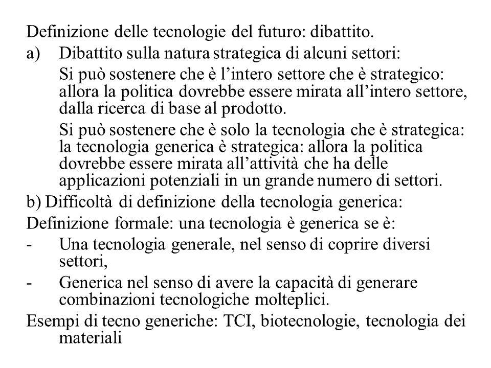 Definizione delle tecnologie del futuro: dibattito.