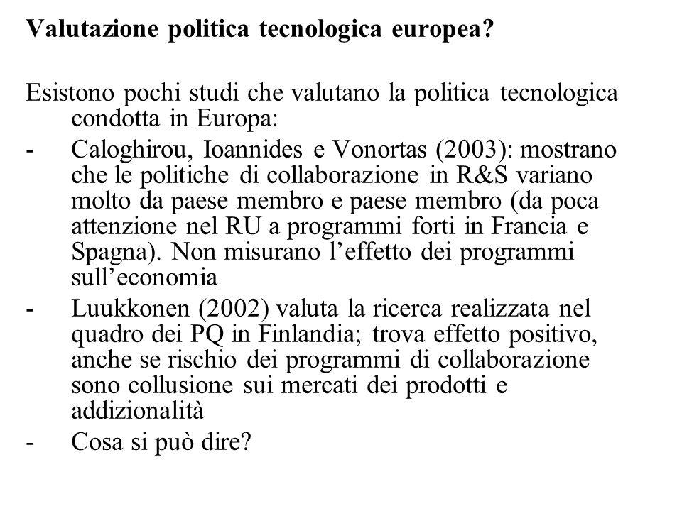 Valutazione politica tecnologica europea.