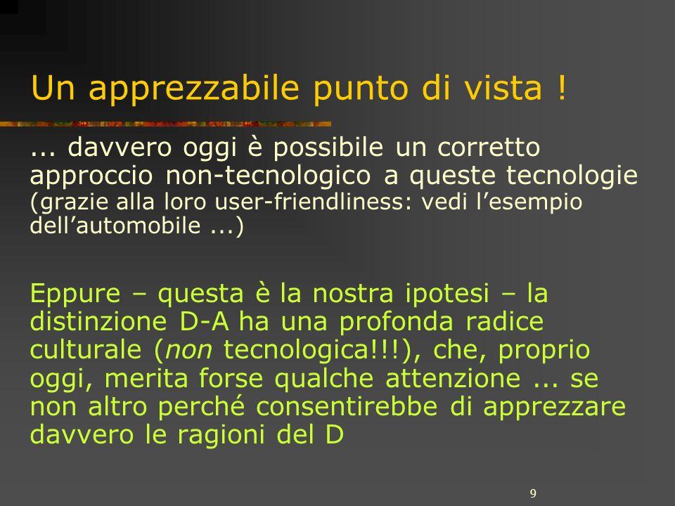 9 Un apprezzabile punto di vista !... davvero oggi è possibile un corretto approccio non-tecnologico a queste tecnologie (grazie alla loro user-friend