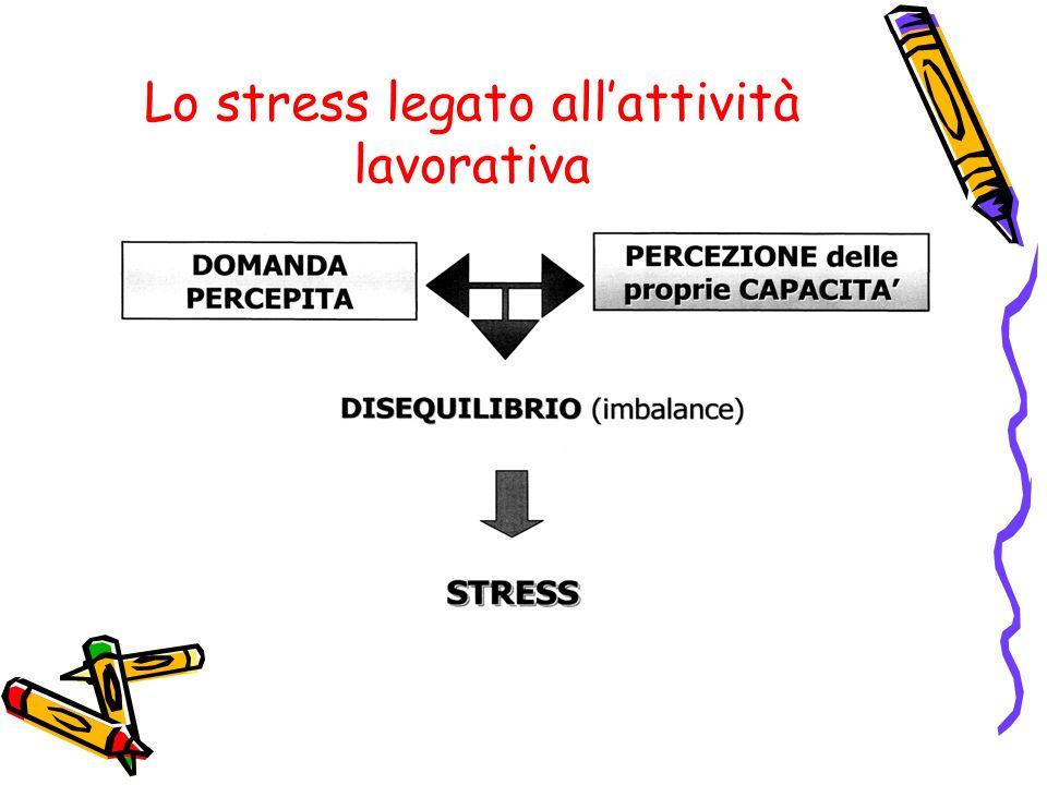 Lo stress legato allattività lavorativa
