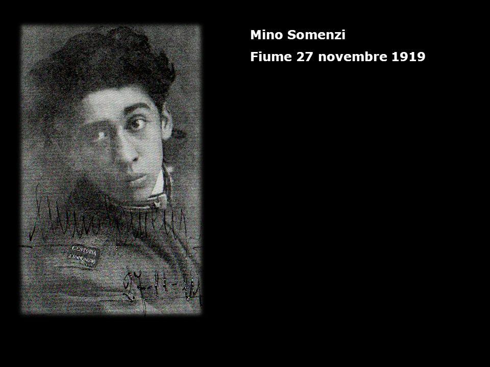 Mino Somenzi Fiume 27 novembre 1919