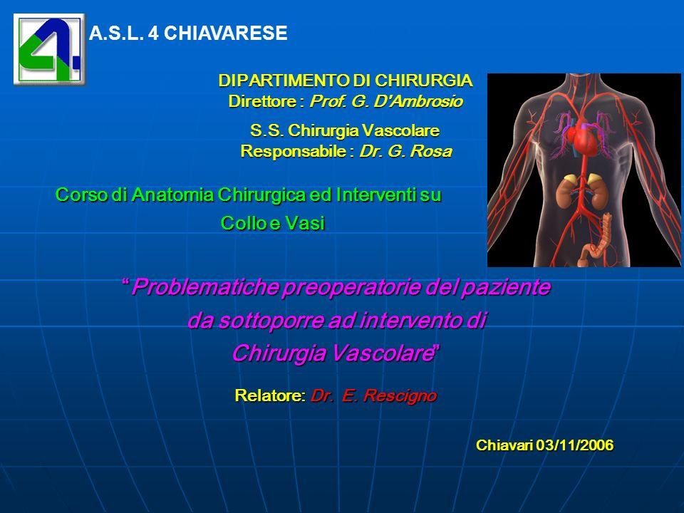 DIPARTIMENTO DI CHIRURGIA Direttore : Prof.G. D Ambrosio S.S.