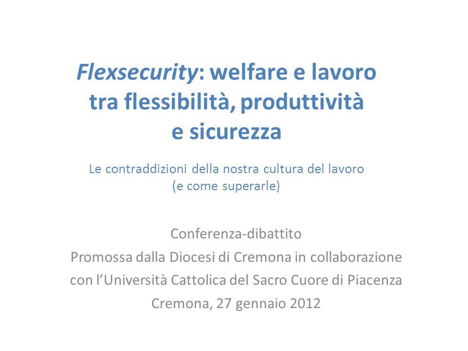 Flexsecurity: welfare e lavoro tra flessibilità, produttività e sicurezza Le contraddizioni della nostra cultura del lavoro (e come superarle) Confere