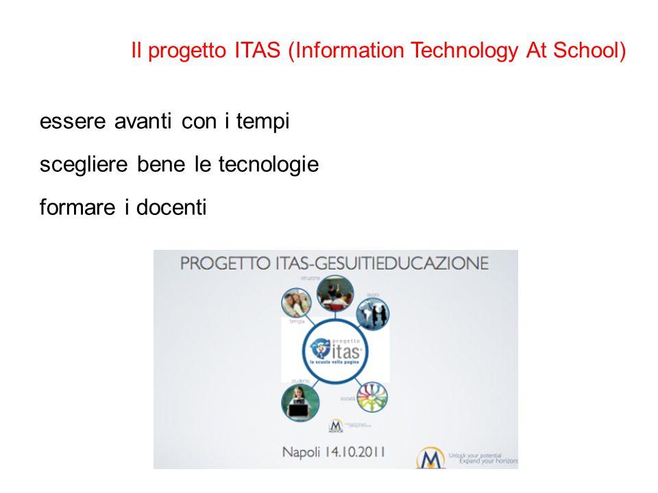 Il progetto ITAS (Information Technology At School) essere avanti con i tempi scegliere bene le tecnologie formare i docenti