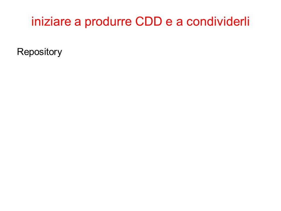 iniziare a produrre CDD e a condividerli Repository