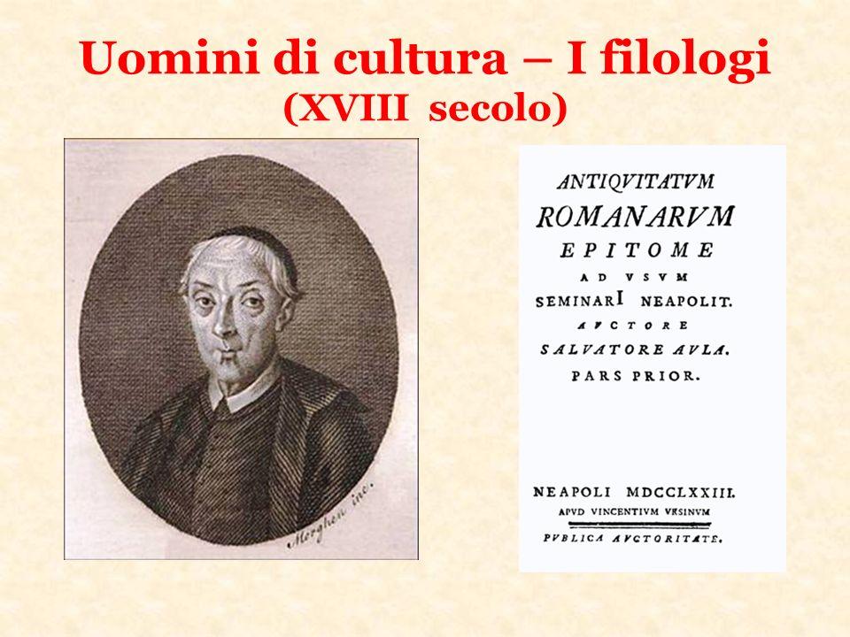 Uomini di cultura – I filologi (XVIII secolo)