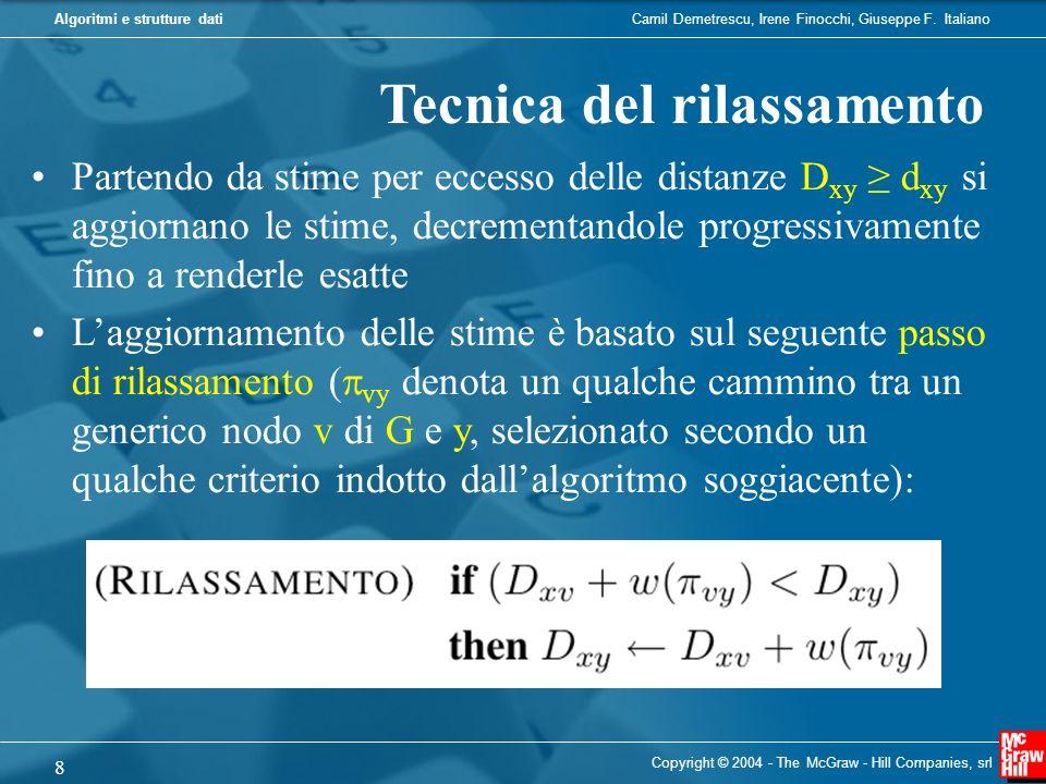 Camil Demetrescu, Irene Finocchi, Giuseppe F. ItalianoAlgoritmi e strutture dati Copyright © 2004 - The McGraw - Hill Companies, srl 8 Tecnica del ril