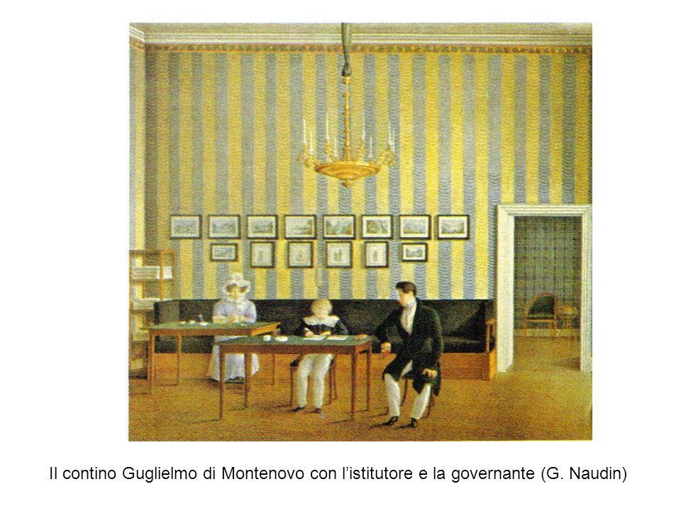 Il contino Guglielmo di Montenovo con listitutore e la governante (G. Naudin)