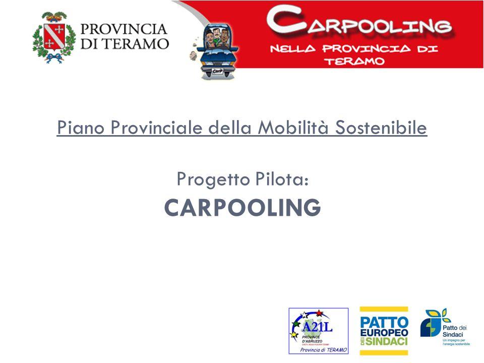 Piano Provinciale della Mobilità Sostenibile Progetto Pilota: CARPOOLING