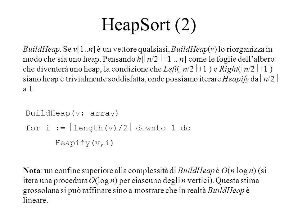 HeapSort (2) BuildHeap.