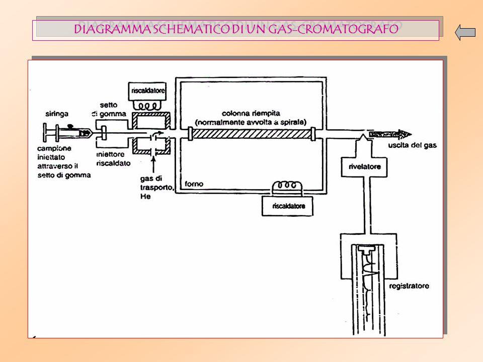 DIAGRAMMA SCHEMATICO DI UN GAS-CROMATOGRAFO