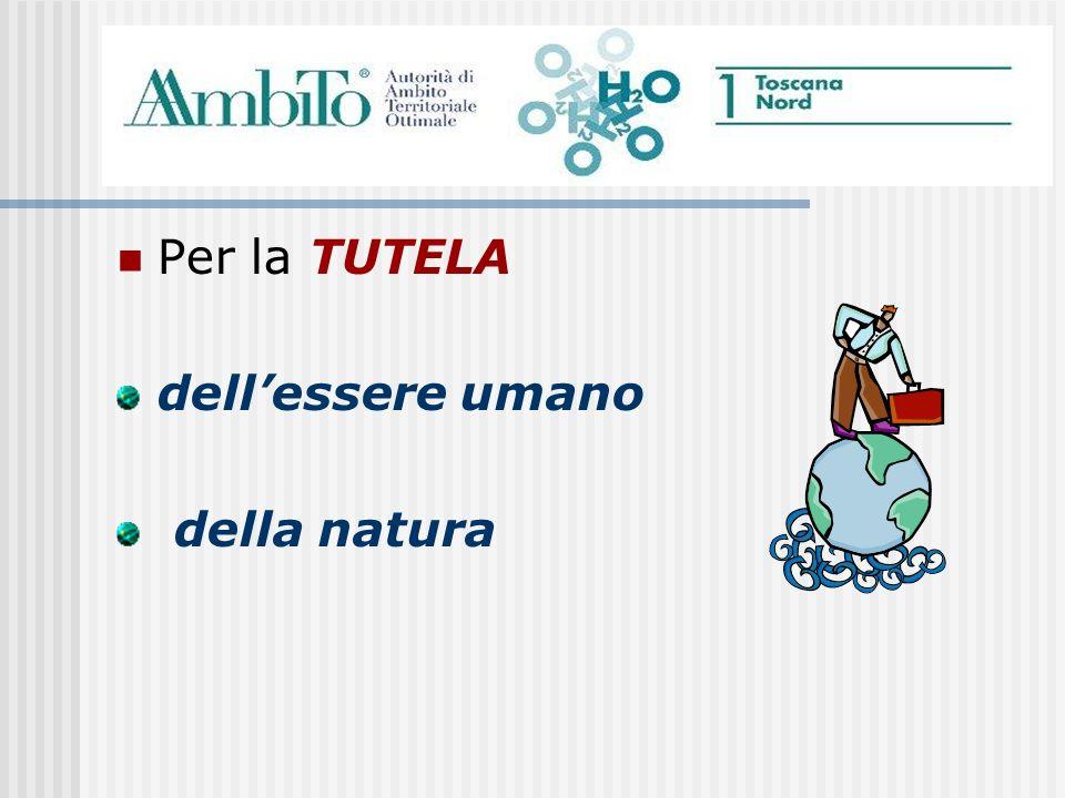 Per la TUTELA dellessere umano della natura