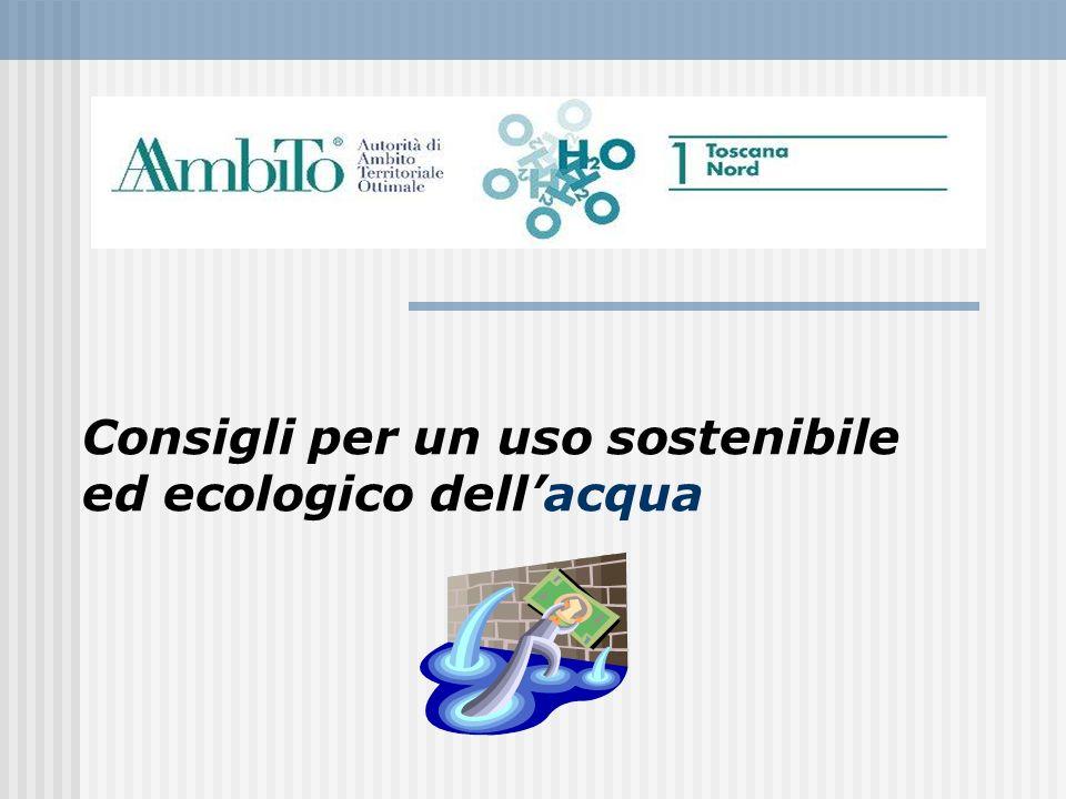 Consigli per un uso sostenibile ed ecologico dellacqua