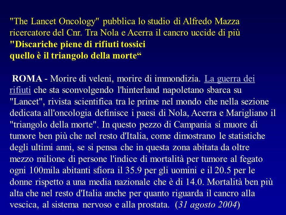 The Lancet Oncology pubblica lo studio di Alfredo Mazza ricercatore del Cnr.