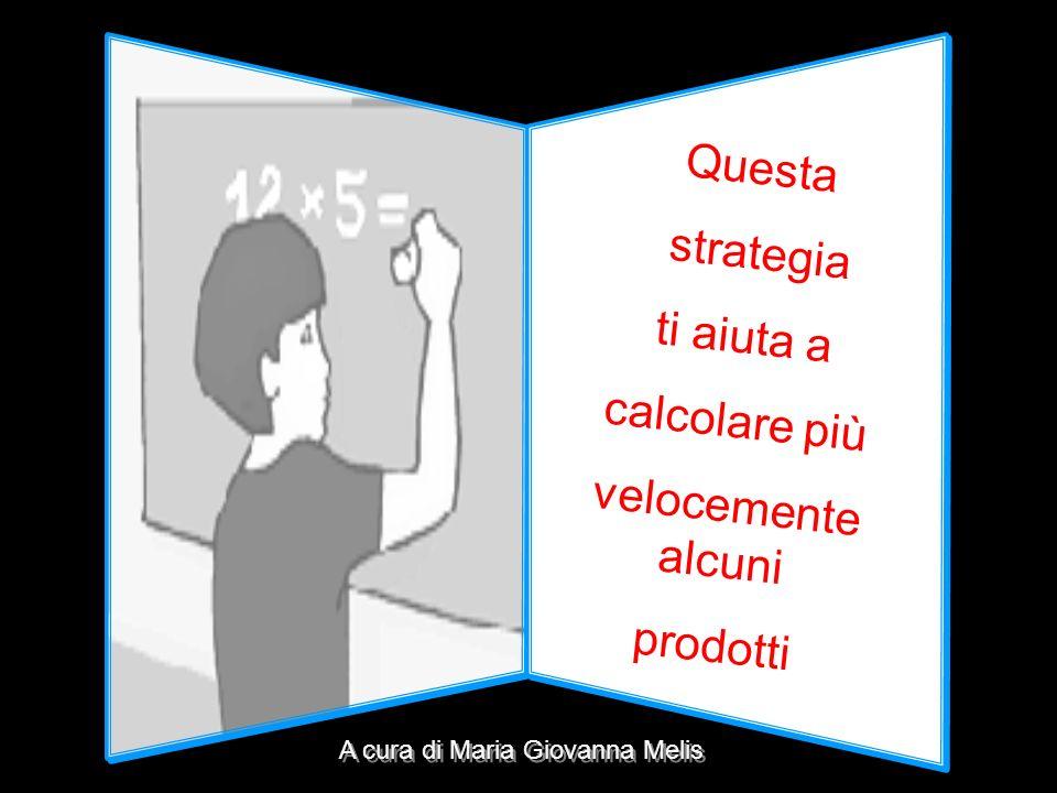 Questa strategia ti aiuta a calcolare più velocemente alcuni prodotti A cura di Maria Giovanna Melis