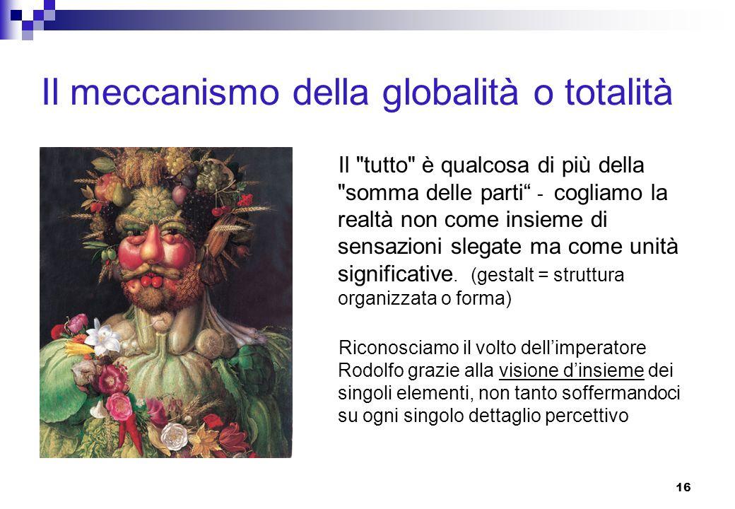 16 Il meccanismo della globalità o totalità Il