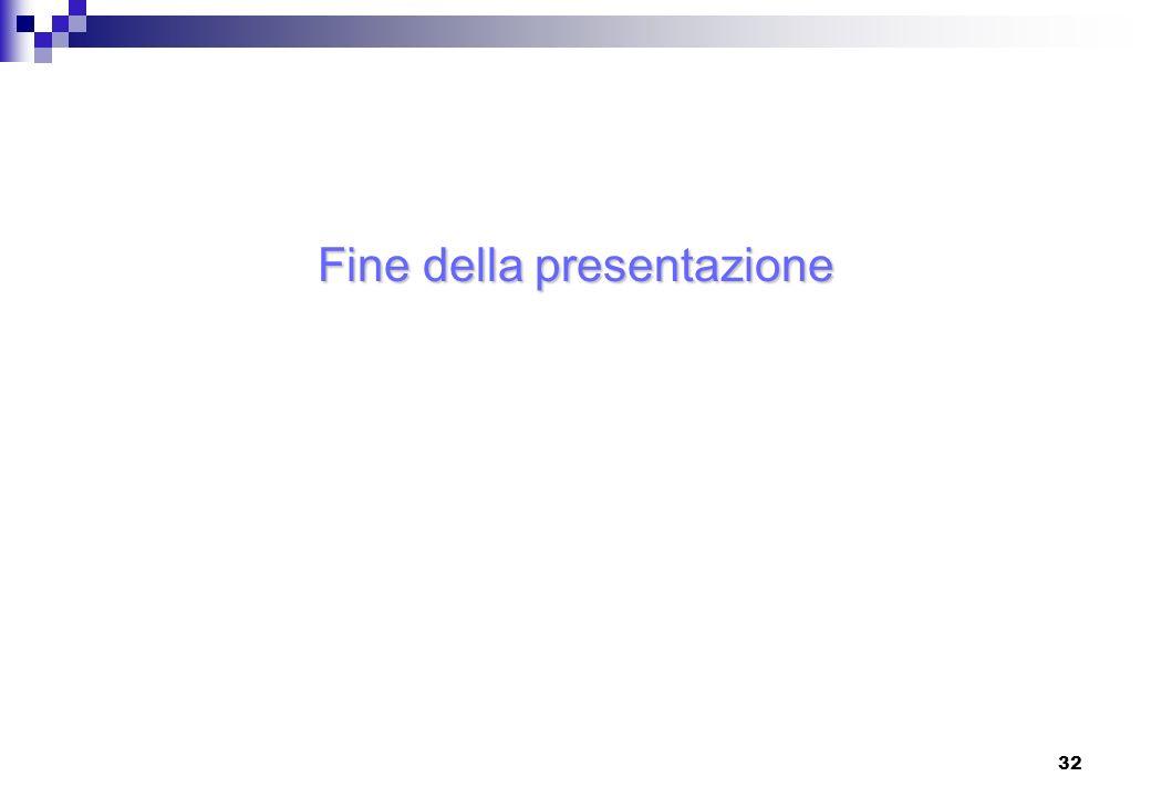 32 Fine della presentazione