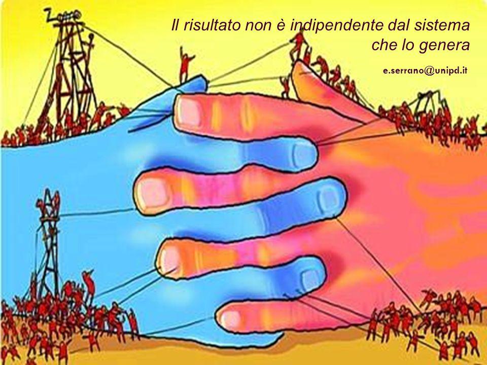 Il risultato non è indipendente dal sistema che lo genera e.serrano@unipd.it
