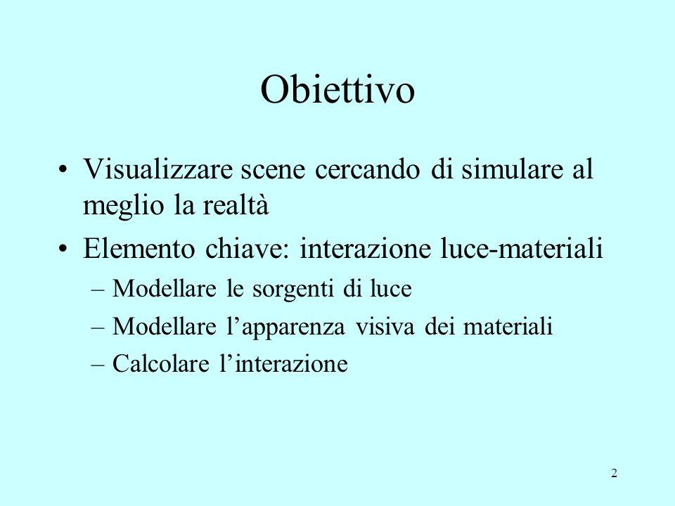 1 Modelli di Illuminazione 1- Modelli locali Daniele Marini