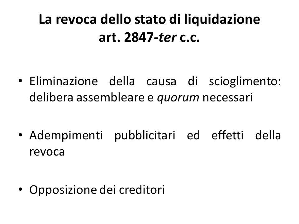 Liquidazione: aspetti contabili Il Rendiconto della gestione (art.