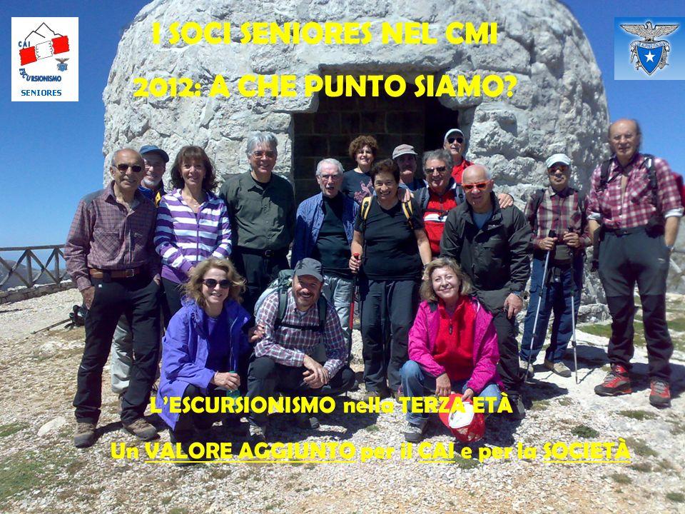 I SOCI SENIORES NEL CMI 2012: A CHE PUNTO SIAMO.
