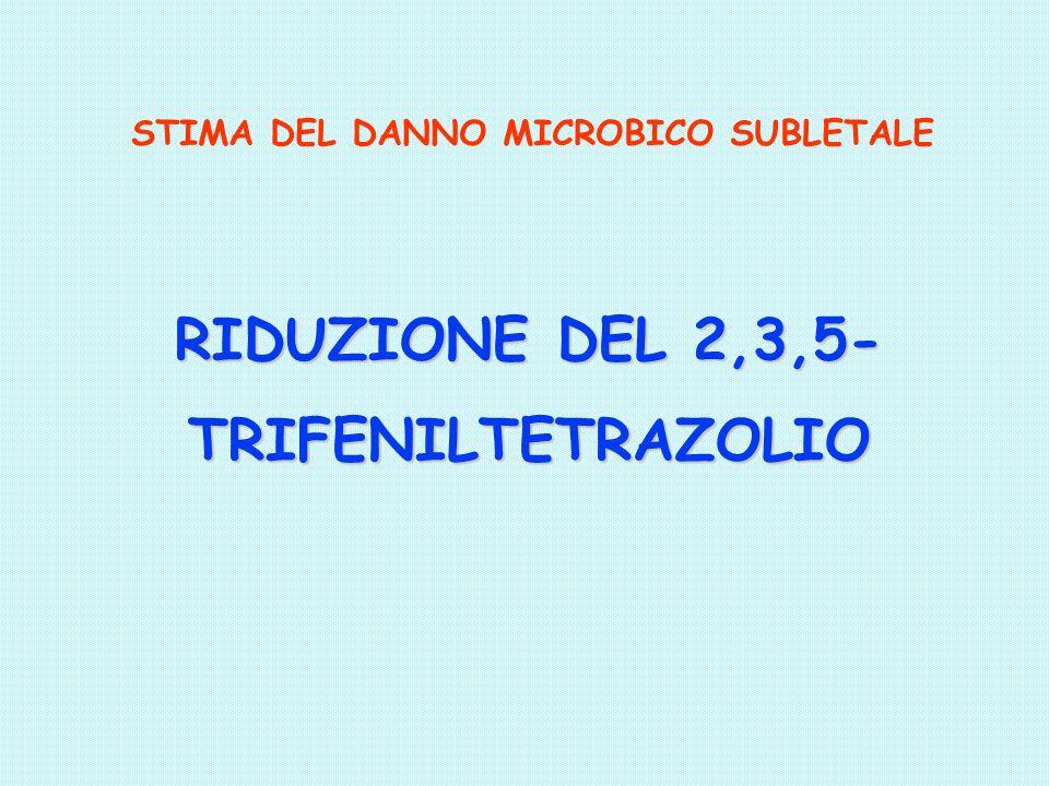 RIDUZIONE DEL 2,3,5- TRIFENILTETRAZOLIO STIMA DEL DANNO MICROBICO SUBLETALE