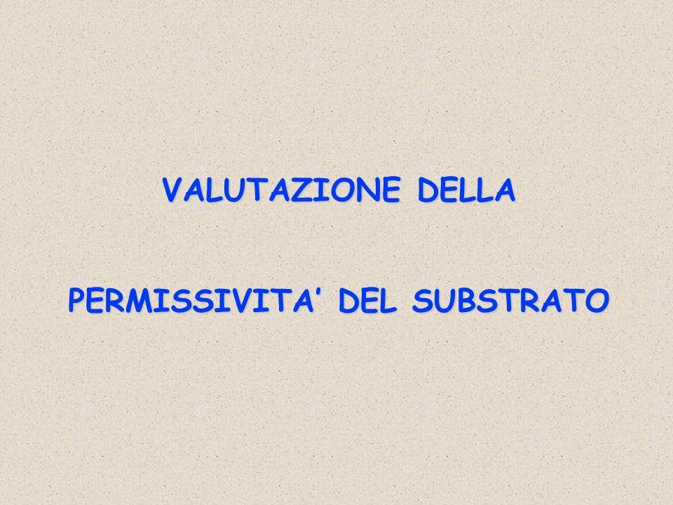VALUTAZIONE DELLA PERMISSIVITA DEL SUBSTRATO