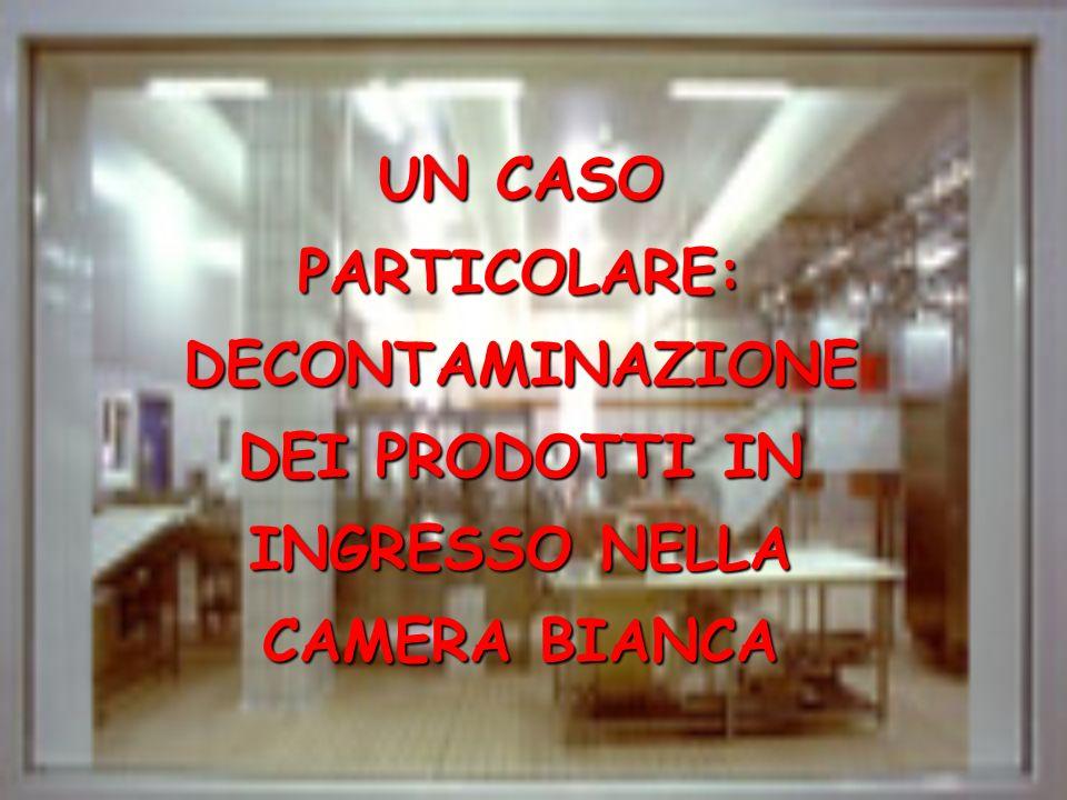 UN CASO PARTICOLARE: DECONTAMINAZIONE DEI PRODOTTI IN INGRESSO NELLA CAMERA BIANCA