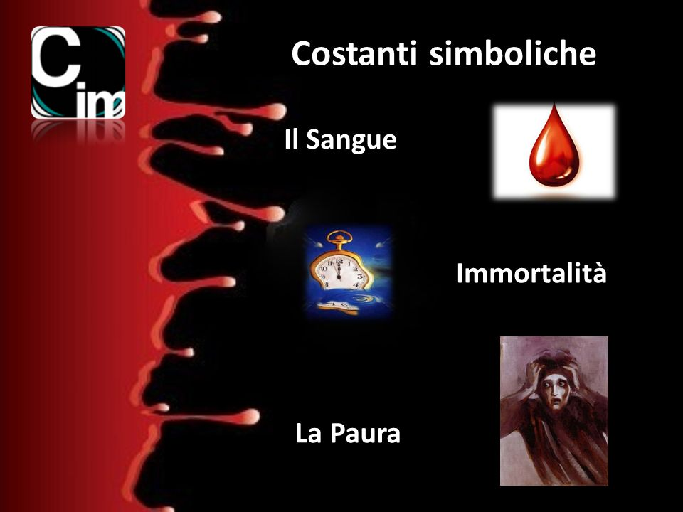 Il Sangue Immortalità La Paura Costanti simboliche