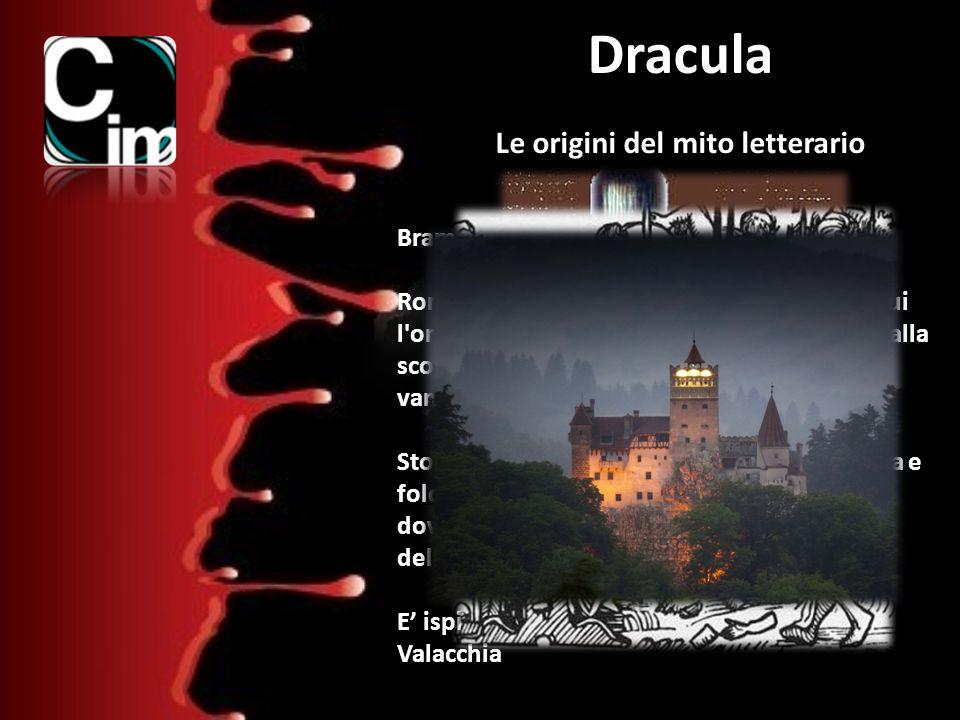 Dracula Le origini del mito letterario Bram Stoker 1897 Romanzo dalle atmosfere cupe e oscure, in cui l'orrore e la minaccia assillano i protagonisti