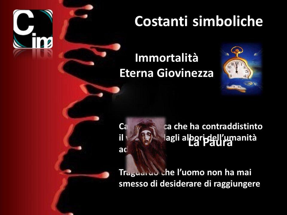 Costanti simboliche Immortalità Eterna Giovinezza Caratteristica che ha contraddistinto il vampiro dagli albori dellumanità ad oggi. Traguardo che luo