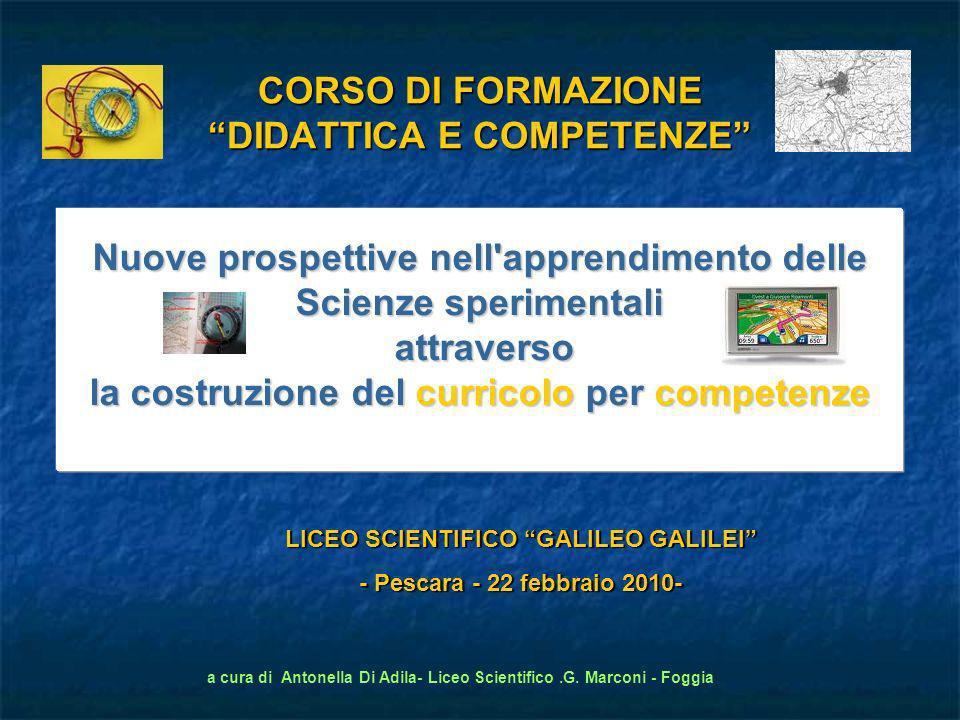 a cura di Antonella Di Adila- Liceo Scientifico.G. Marconi - Foggia LICEO SCIENTIFICO GALILEO GALILEI - Pescara - 22 febbraio 2010- Nuove prospettive