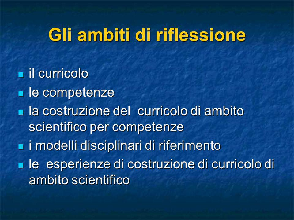 La costruzione del curricolo La costruzione di un curricolo richiede Flessibilità Verticalità,progressività, ricorsività Orizzontalità Trasversalità