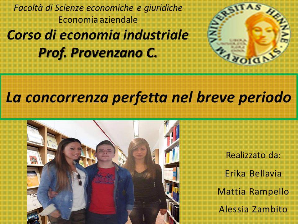 Realizzato da: Erika Bellavia Mattia Rampello Alessia Zambito Prof. Provenzano C. Facoltà di Scienze economiche e giuridiche Economia aziendale Corso