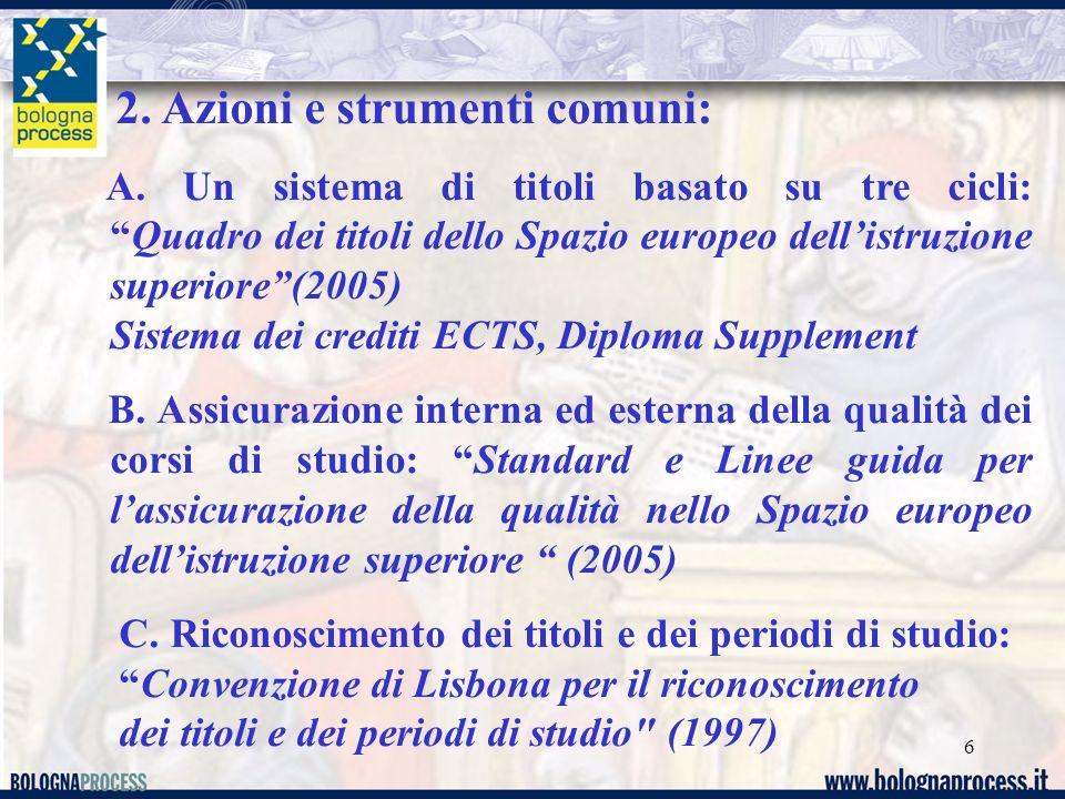 6 2. Azioni e strumenti comuni: A.