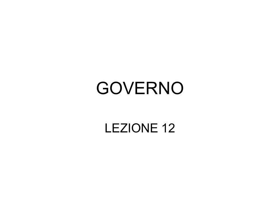GOVERNO LEZIONE 12