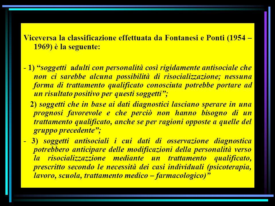 Secondo lattuale sistema di Codice Penale Italiano, i delinquenti sono classificati nelle seguenti categorie, basate su criteri di recidività e perico