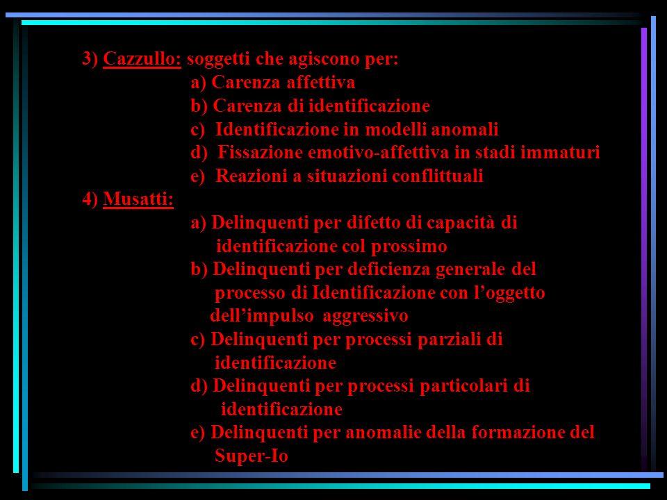 LE CLASSIFICAZIONI CLINICHE (V. Mastronardi, 2000) 1) Delinquente normale VS Delinquente anormale (biologicamente e/o psichiatricamente) (es. Oligofre