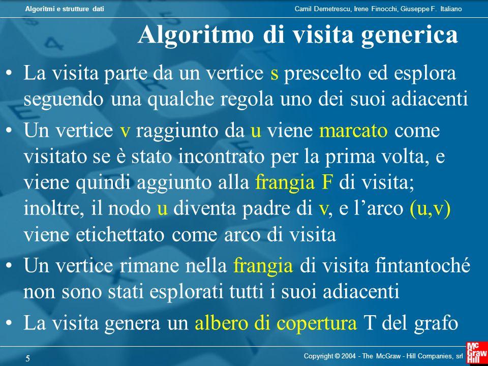 Camil Demetrescu, Irene Finocchi, Giuseppe F. ItalianoAlgoritmi e strutture dati Copyright © 2004 - The McGraw - Hill Companies, srl 5 Algoritmo di vi