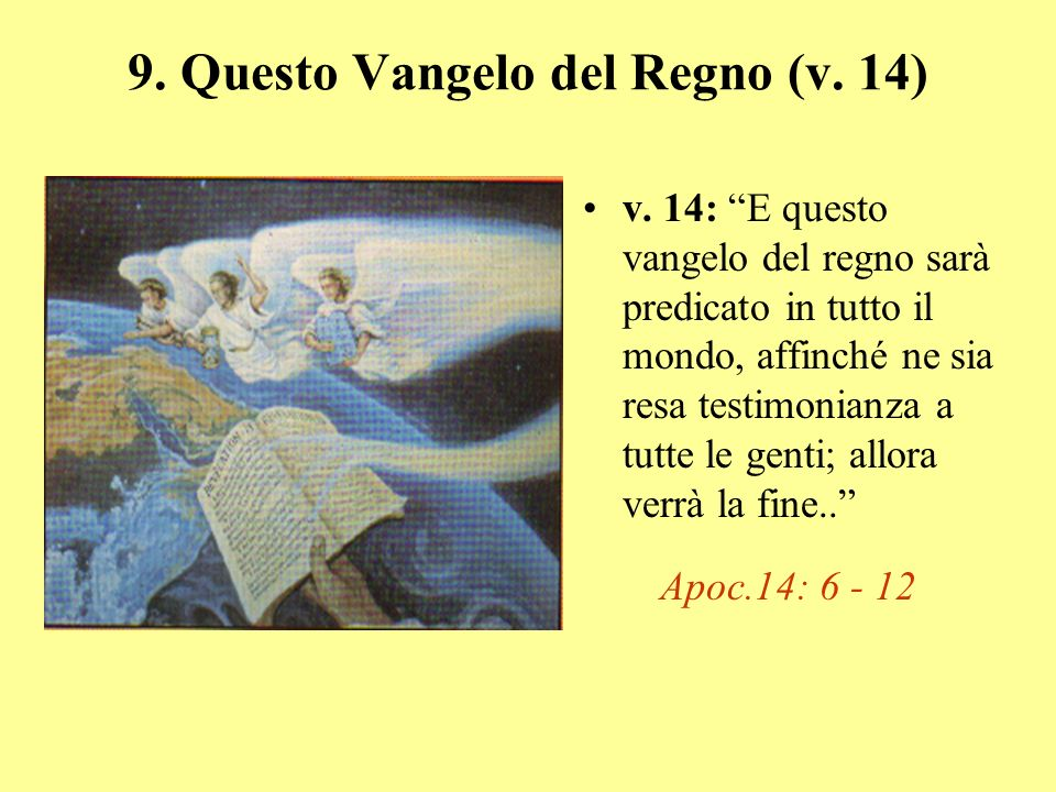 8.Lamore di molti si raffredderà (versi 12, 13) v.