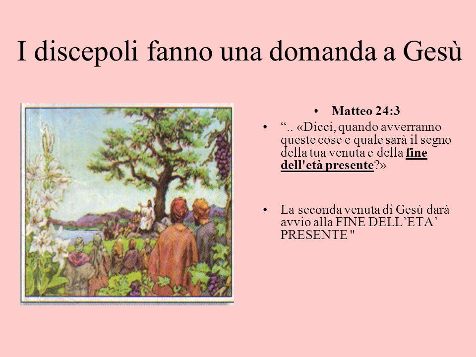 Segni della seconda venuta di Cristo Profezie fatte dal nostro Signore Gesù Cristo Testo: Matteo capitolo 24