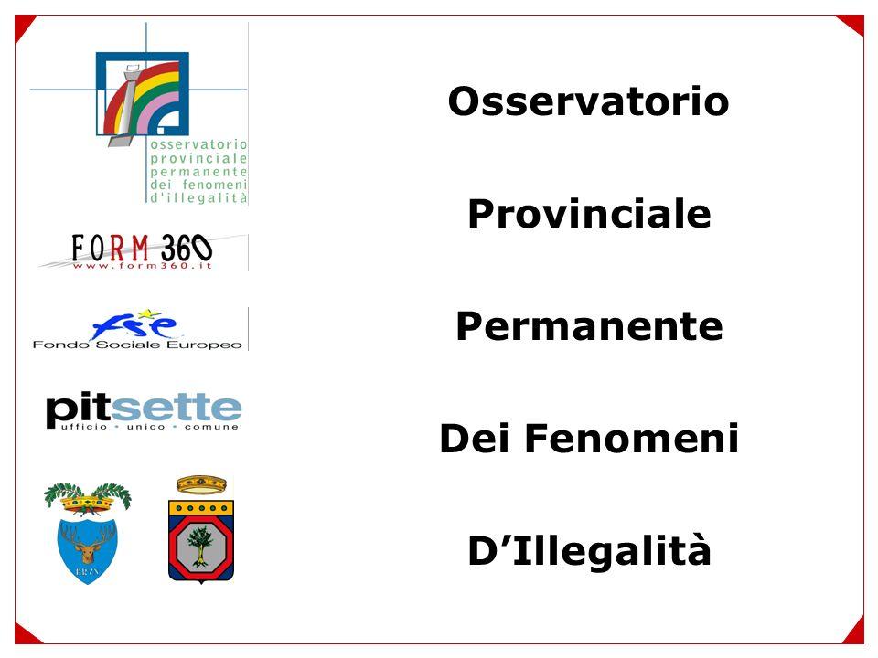 Osservatorio Provinciale Permanente Dei Fenomeni DIllegalità