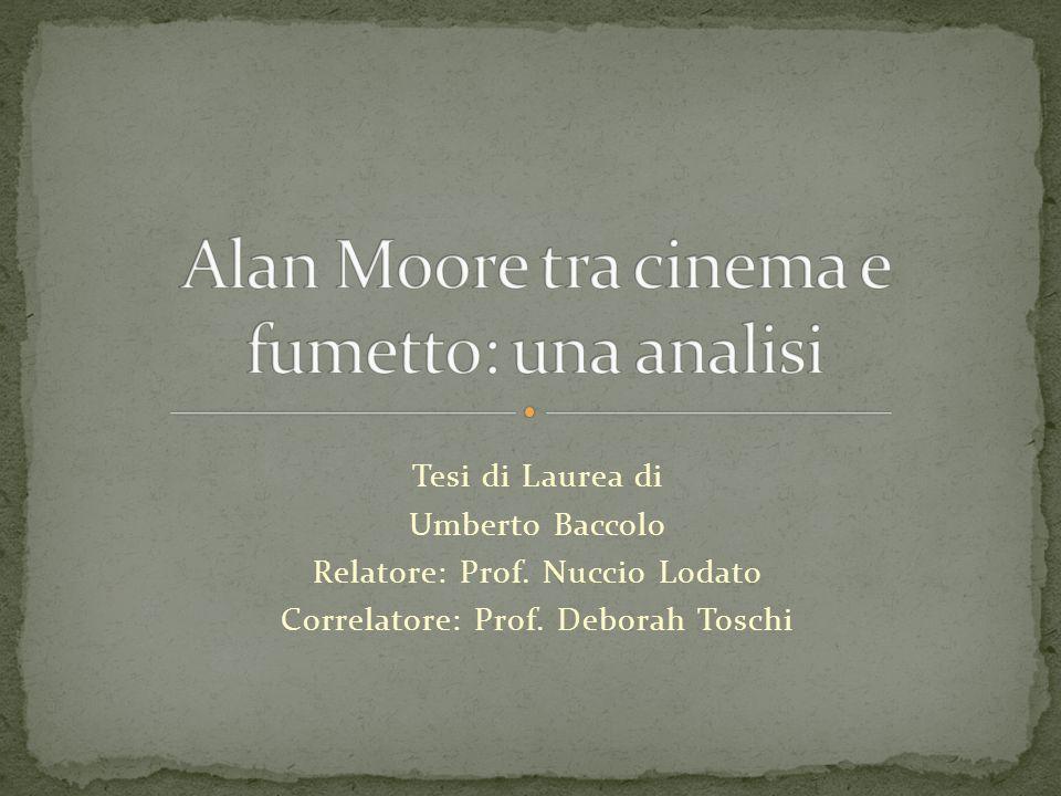 Tesi di Laurea di Umberto Baccolo Relatore: Prof. Nuccio Lodato Correlatore: Prof. Deborah Toschi