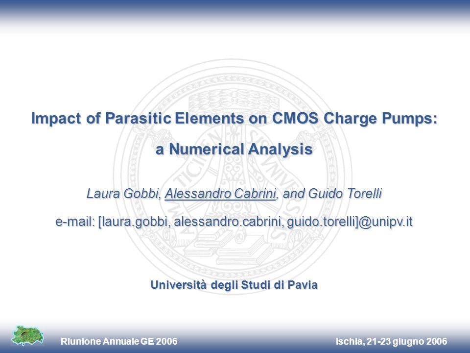Ischia, 21-23 giugno 2006Riunione Annuale GE 2006 Laura Gobbi, Alessandro Cabrini, and Guido Torelli e-mail: [laura.gobbi, alessandro.cabrini, guido.t