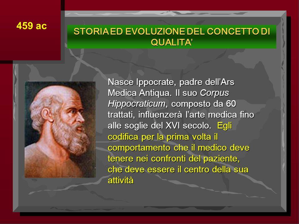 Nasce Ippocrate, padre dellArs Medica Antiqua. Il suo Corpus Hippocraticum, composto da 60 trattati, influenzerà larte medica fino alle soglie del XVI