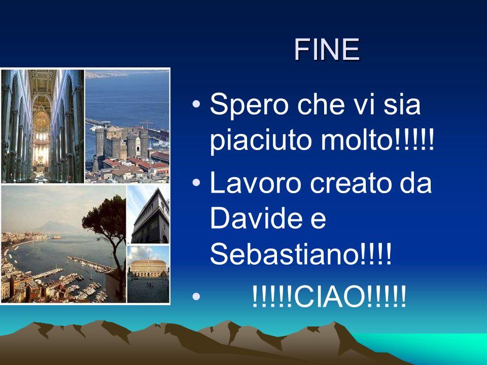 FINE Spero che vi sia piaciuto molto!!!!! Lavoro creato da Davide e Sebastiano!!!! !!!!!CIAO!!!!!