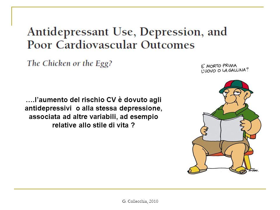 ….laumento del rischio CV è dovuto agli antidepressivi o alla stessa depressione, associata ad altre variabili, ad esempio relative allo stile di vita ?