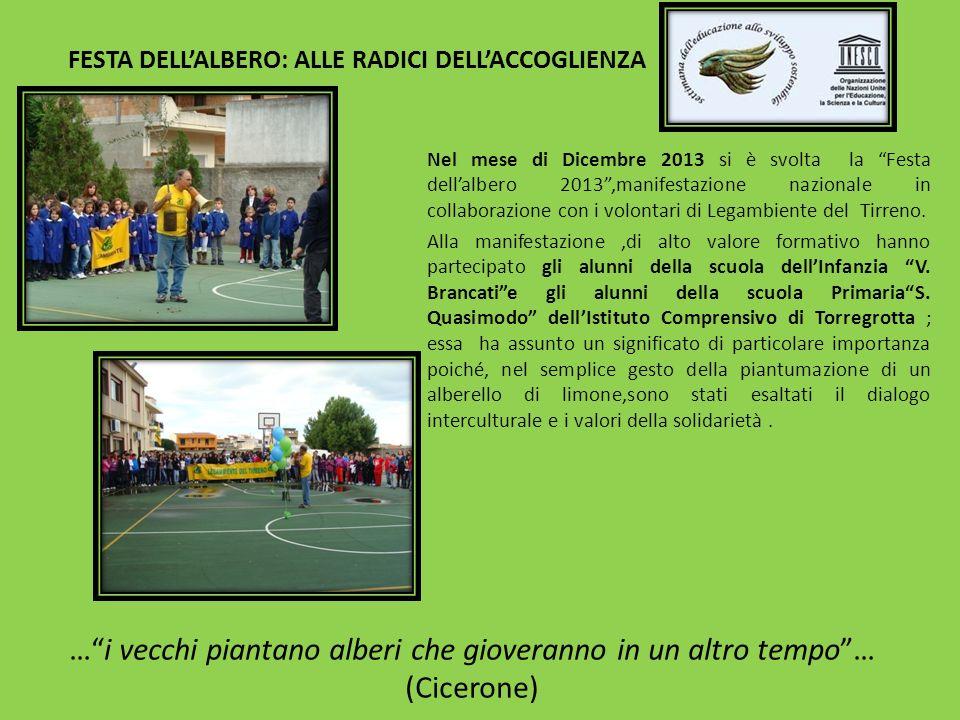 FESTA DELLALBERO: ALLE RADICI DELLACCOGLIENZA Nel mese di Dicembre 2013 si è svolta la Festa dellalbero 2013,manifestazione nazionale in collaborazion